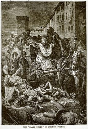 Number of plague deaths in Avignon
