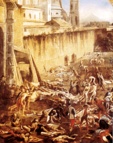 Colored drawing of the Antonine Plague