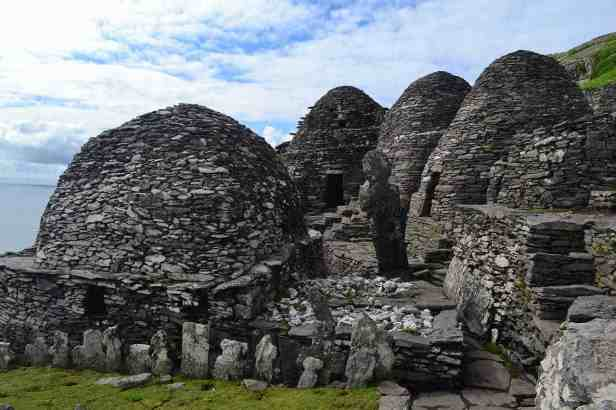 Remains of the Jedi Temple in Ahch-To (Skellig Michael Island, Ireland)