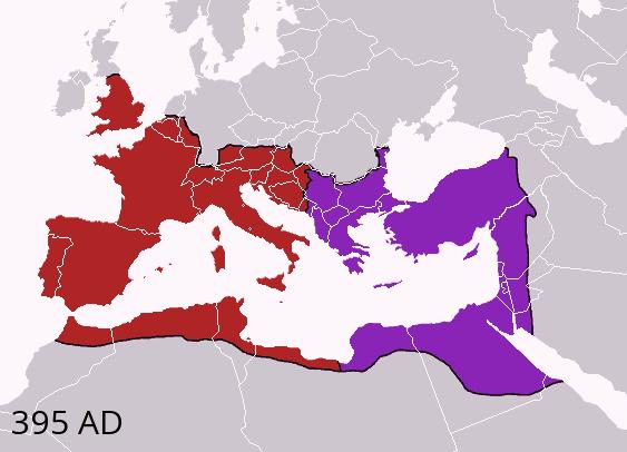 Division of the Roman Empire in 395