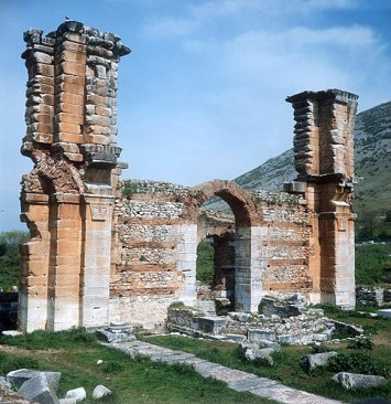 Remains of the Basilica in Philippi halted by the plague