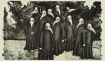 Plague doctors in masks