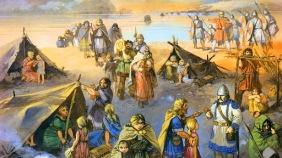 Germanic tribes across the Rhine