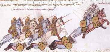 Byzantine cavalry Bandon in the Madrid Skylitzes