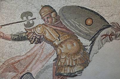 Mosiac depicting a Palatini soldier