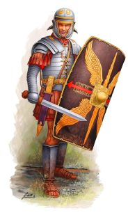 Roman legionnaire with Manica arm guards (2nd century)