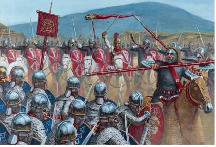 Late Roman legionnaires in the Battle of Milvian Bridge, 312