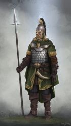 Rohirrim officer's armor (LOTR) possibly based on the Palatini or Foederati units