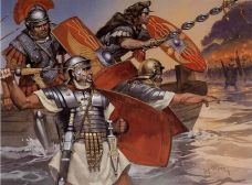 Imperial era legionnaires in offensive positions