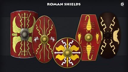 Roman shield varieties