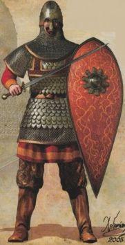 Byzantine Skoutatoi with a Spatha