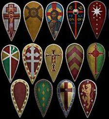 Byzantine shield (Skouton) variants