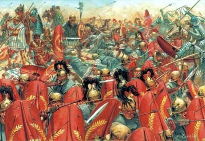 Defeat of the early Roman legion to the Parthians at Carrhae, 53BC