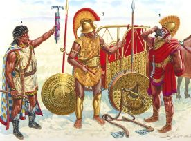 Etruscan soldiers with a chariot