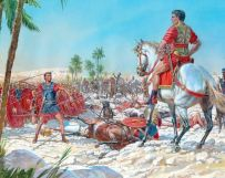 Roman legions against each other in Caesar's Civil Wars (40s BC)