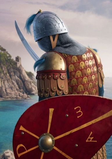Byzantine commander (Komes or Droungarios) in lamellar armor