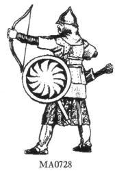 Byzantine (Toxotai) archer drawing