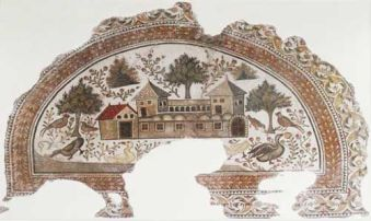 Mosaic of a late Roman villa