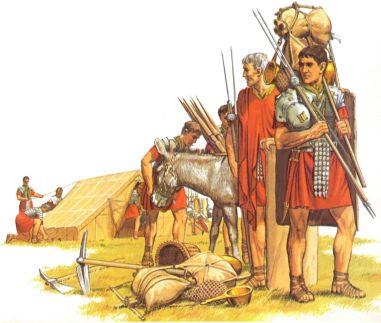 Roman sitzen legion soldiers