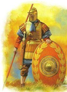 Late Roman legionnaire in scale armor