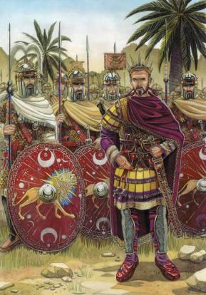 Emperor Aurelian and his army