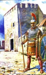 Palatini soldier guarding a fortress