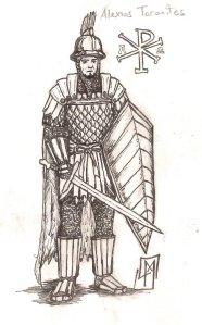 Standard Byzantine infantry man (Skoutatoi)