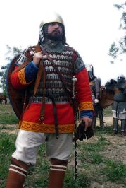 Byzantine infantryman in Klivanion armor