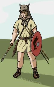 Roman Velite soldier (skirmisher)