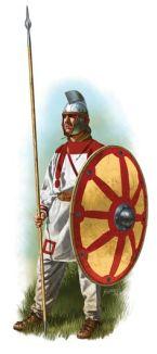 Unarmored Western Roman legionnaire