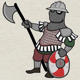 Fully armored Byzantine Varangian