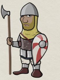 Varangian Guard with a Dane-axe
