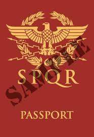 Roman citizenship (SPQR passport)