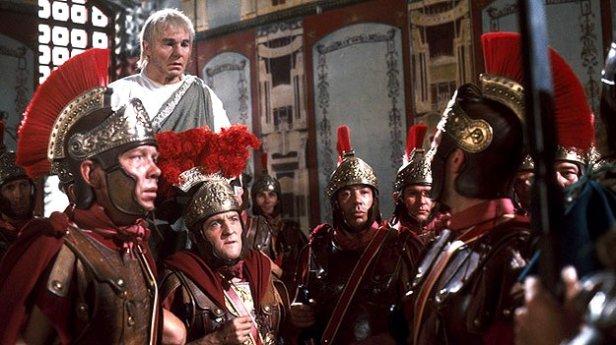 Praetorian Guards in I, Claudius- making Claudius emperor