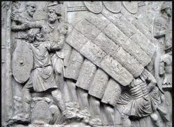 Testudo formation in Trajan's Column