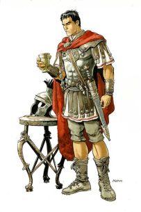 Tribunus Laticlavius (general) wearing pants