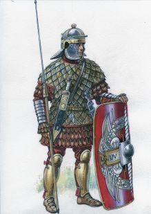 Roman legionnaire in Lorica Squamata (3rd century)