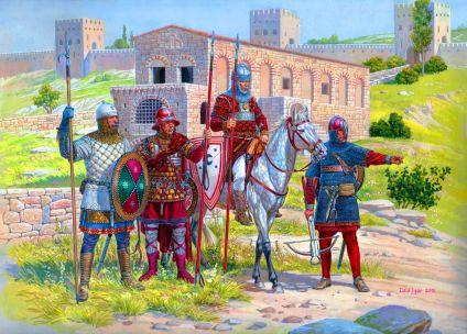 Byzantine units of the 14th century, mercenaries and local Tzakones