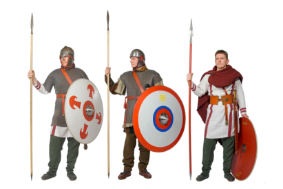 Roman legionnaire units of the 3rd century (modern re-enactment)