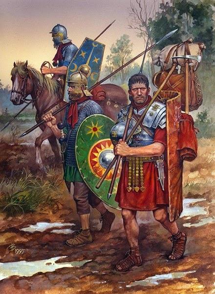 Roman Legionnaire accompanied by Auxiliaries