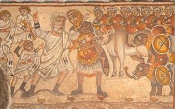 Mosaic showing late Roman army