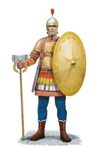 Excubitor soldier (Byzantine palace guard)