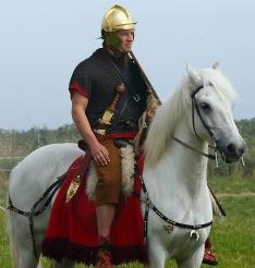 Roman Auxiliary cavalry unit in Lorica Hamata