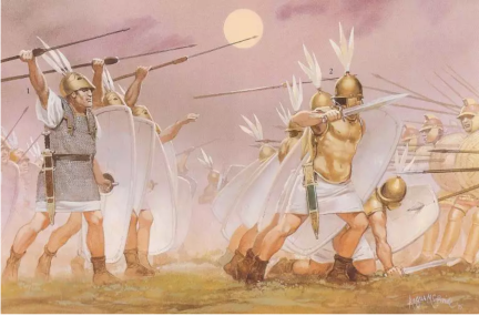 Manipular battle formation, Principes behind Hastati