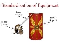 Standardization of a legionnaire's equipment under Marius
