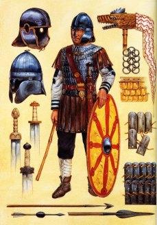 Western Roman legionnaire in full armor
