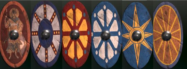 Late Roman/ early Byzantine legionnaire shields
