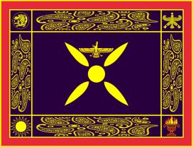 Persian Sassanid Empire flag