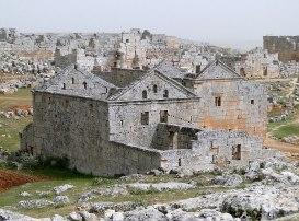Byzantine stone village remains in Syria