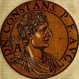 Emperor Constans I (r. 337-350), son of Constantine I